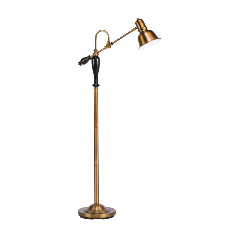 one light antique brass floor lamp. Black Bedroom Furniture Sets. Home Design Ideas