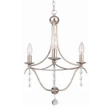 Crystorama 433-SA - Crystorama Metro 3 Light Antique Silver Mini Chandelier III