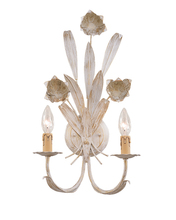 Crystorama 4812-AW - Crystorama Southport 2 Light Antique White Sconce