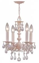 Crystorama 5514-BH-CL-MWP - Crystorama Paris Market 4 Light Blush Mini Chandelier