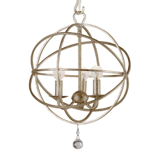 Crystorama 9225-OS - Crystorama Solaris 3 Light Olde Silver Mini Chandelier