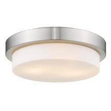 Golden Canada 1270-13 PW - Multi-Family Flush Mount in Pewter with Opal Glass