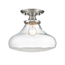 Golden Canada 3417-LSF PW-CC - Asha Large Semi Flush in Pewter with Crushed Crystal Glass