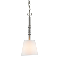 Golden Canada 3500-M1L PW-CWH - Waverly Mini Pendant in Pewter with Classic White Shade