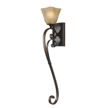 Golden Canada 3890-WT1 GB - Meridian 1 Light Wall Sconce Torchiere in Golden Bronze with Antique Marbled Glass