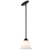 Golden Canada 4120 RBZ-OP - Multi-Family Mini Pendant in Rubbed Bronze with Opal Glass