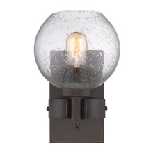 Golden Canada 4855-1W RBZ-SD - Galveston 1 Light Wall Sconce in Rubbed Bronze with Seeded Glass