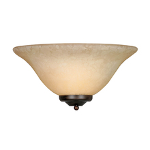 Golden Canada 8355 RBZ - Multi-Family 1 Light Wall Sconce in Rubbed Bronze with Tea Stone Glass