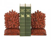 Sterling Industries 93-8505 - Pair Red Floral Bookends