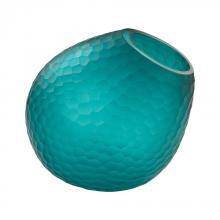 Dimond 4154-039 - Vivace Cut Glass Horn Vase In Teal