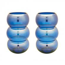 Dimond 464075/S2 - Cobalt Ring Votives - Set of 2