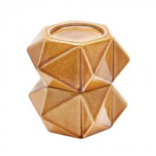 Dimond 857128/S2 - Large Ceramic Star Candle Holders In Honey - Set