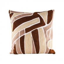 Dimond 8906-008 - Brown Neutrals Pillow With Goose Down Insert