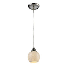 ELK Lighting 10208/1CLD - Fission 1 Light Pendant In Satin Nickel And Clou