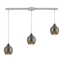 ELK Lighting 10208/3L-SLV - Fission 3 Light Pendant In Satin Nickel And Silv