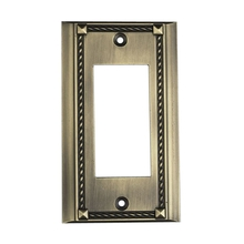 ELK Lighting 2502AB - Clickplates Single Plate In Antique Brass