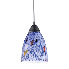 ELK Lighting 406-1BL - Classico 1 Light Pendant In Dark Rust And Starbu