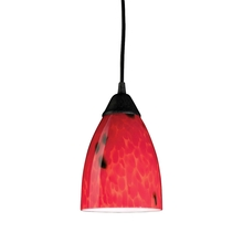 ELK Lighting 406-1FR - Classico 1 Light Pendant In Dark Rust And Fire R