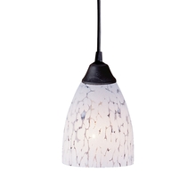 ELK Lighting 406-1SW - Classico 1 Light Pendant In Dark Rust And Snow W