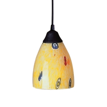 ELK Lighting 406-1YW - Classico 1 Light Pendant In Dark Rust And Yellow