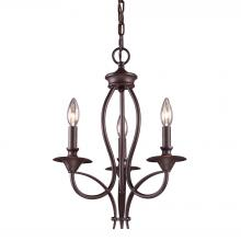 ELK Lighting 61031-3 - Medford 3 Light Chandelier In Oiled Bronze
