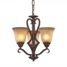ELK Lighting 9326/3 - Lawrenceville 3 Light Chandelier In Mocha With A