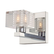 ELK Lighting BV311-90-15 - Quatra 1 Light Vanity In Chrome And Clear Glass